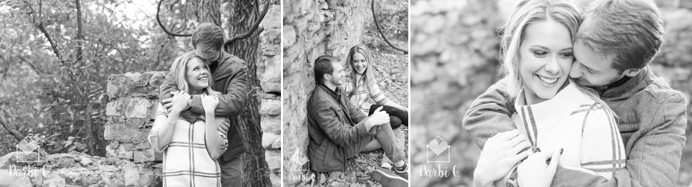 Lenexa wedding engagement photographer Shawnee Mission Park